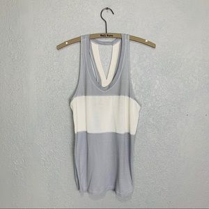 Lululemon v-neck striped burnout tank